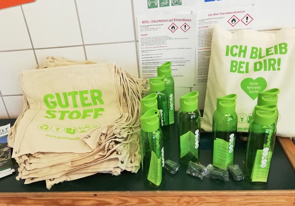 Give-Aways des GVA Mödling.